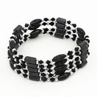Magic Magnetic Therapy Hematite & Crystal Bead Wrap Necklace/Bracelet