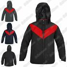New Mens Long Sleeve Hooded Contrast Panel Casual Winter Padded Jacket Warm Coat