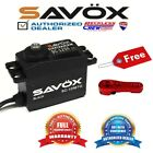 Savox SC-1256TG-BE Coreless Digital Servo Black+ Free Aluminium servo horn Red