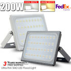 200W LED Flood Light Cool&Warm White Outdoor Garden Lamp Lighting 12V-110V IP67