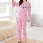 Women Pajamas Sets Winter Sleeve Thin Cartoon Print Cute Loose Sleepwear
