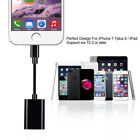 Adapter For iPhone XS/R X 6 7 8 + Splitter Audio Earphone AUX Charger Dual XS