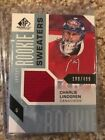 2016-17 UD SP Gamed Used Montreal Candiens Charlie Lindgren Rookie Patch #/499