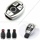 360° Full Protection Silver Keyless Cover Case For Mercedes Benz 3 Button Key