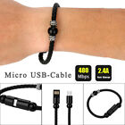 Bead Bracelet Charger iPhone Android Cell Phone 8Pin Creative USB Data Cable Hot