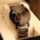 Fashion Stainless Steel Watch Couple Lovers Women Mens Quartz Analog Wrist Watch image