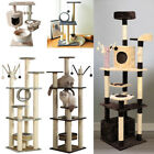 76-183cm Cat Scratching Tree Tower Toy Condo Pet House Activity Centre Playgroud