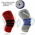 Silicone Spring Knee Brace Sport Support Strong Meniscus Protection Compression