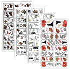 Nail Art Sticker Water Decal Manicure Stickers Colorful Design 4 Pattern 1+1