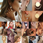 Boho Women Simple Geometric Circle Ear Stud Drop Dangle Earrings Fashion Designs image
