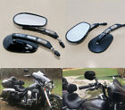 Edge Cut Rear View Mirrors for Harley Touring Sportster Softail Dyna XL Black $31.33 USD on eBay