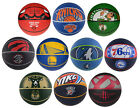 Spalding NBA Team Rubber Basketball Official Size - Warriors, Thunder, Raptors +