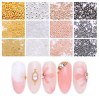 3D Nail Perlen Stainless Steel Mini Rose Gold Silver Nail Art Dekoration