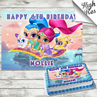 SHIMMER AND SHINE RECTANGLE EDIBLE CAKE TOPPER DECORATION PERSONALISED