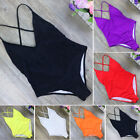 Sexy Women One Piece Backless Monokini Push Up Padded Bikini Swimsuit Swimwear $8.25 USD on eBay
