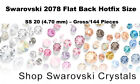 Swarovski 2078 Flat Back Hotfix Size SS 20 – Gross/144 Pieces Colors