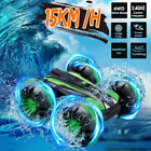 Stunt Flip Car 360° Rotate Remote Control Car Water/Land Toy Double Sided Boat
