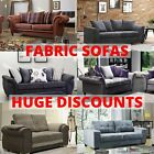 Fabric Sofas Grey Black Brown Tan Sofa sets 3+2+1 Seaters Couches Settees New