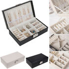 NEW Jewelry Box Organizer Velvet Jewellery Ornaments Necklace Rings Case Storage