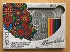 MANDALAS ADULT KID CHILD COLORING SET 12 Color Pencil 24 Poster 11x15 Karmin art