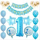 1st Happy Birthday Confetti Balloons Boy Girl Baby Shower Party DecorationSet
