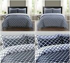 100% Egyptian Cotton Spades Linear Pattern Duvet Covers Reversible Bedding Sets