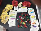 Vintage Paper Ephemera Lot Dog Old Game Pieces Playing Cards Monopoly Coors Buck