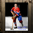 Jean Guy Talbot Montreal Canadiens 7 Stanley Cups Autographed 8x10