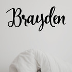 Personalized Script Name With Graphic Vinyl Wall Decal Sticker Nursery Bedroom