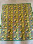 New quilted blankets Elmo big bird sesame Street green red yellow TODDLERS BABIE
