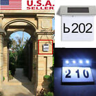 5pcs Solar Powered LED Address Sign Routed Back Lighted Sign House Number Plaque