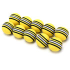 10Pcs/Pack Rainbow Stripe Foam Sponge Golf Balls Swing Practice Training Aids UK