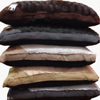Large & Extra Large Luxury Fur Dog Bed - Washable Zipped Mattress Pillow Cushion