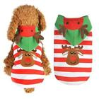 Soft Comfortable Small Pet Dog Christmas Patchwork Cute Clothes Coat UTAR 13