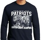 New England Patriots 2019 Super Bowl Champs Tom Brady Long Sleeve T Shirt NEW