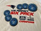 NEW ENLAND PATRIOTS BUD-LIGHT-THE PERFECT SIX PACK- 6 CHAMPIONSHIPS T-SHIRT-2XL