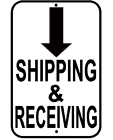 """Shipping And Receiving 12X18"""" Aluminum Sign Will Not Rust USA Made parking Sign"""
