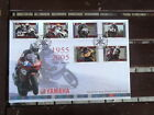 ISLE OF MAN  MOTORCYCLES YAMAHA  FDC WITH SET 6 STAMPS 1955-2005 WITH INSERT