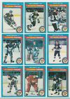 1979-80 OPC 9 DIFF.PITTSNURGH PENGUINS,#45,58,72,109,124,139,154,198,204, EX-MT