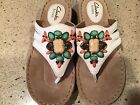 CLARKS Artisan Leather Upper With Jewels Sz 6M Shows No Wear