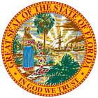 Florida State Seal Vinyl Flag Decal Sticker  Multiple Sizes To Choose From