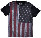 Distressed American Flag Tee Shirt Mens USA Tee July 4th Top Mens image