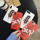 Relief Emboss Street Brand Snake soft phone case for iphone 6 to iphone X