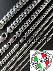 Kyпить Mens Real Solid 925 Sterling Silver Miami Cuban Chain 2-12mm Heavy Link Necklace на еВаy.соm