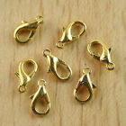 100pcs gold tone Lobster claw Clasps Findings h0410