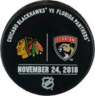 Florida Panthers Game-Issued Warm-Up Puck vs Blackhawks on 11/24/18 - Fantics