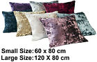 Crushed Velvet Pet Dog Bed Cover Soft Washable Pillow Fleece Cushion Warm Luxury