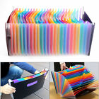 24 Pocket A4 Office Expanding File Box Folder Case Bag School Document Organiser