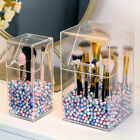 Pearl Clear Acrylic Cosmetic Organizer Makeup Brush Container Storage Box Holder