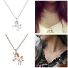 Women Girl Fashion Unicorn Necklace Pendant Clavicle Chain Jewelry Friends Gifts image
